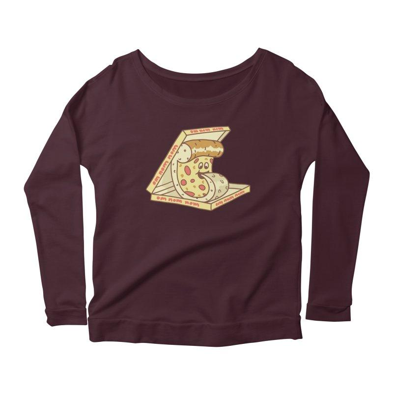 om nom nom Women's Scoop Neck Longsleeve T-Shirt by gotoup's Artist Shop