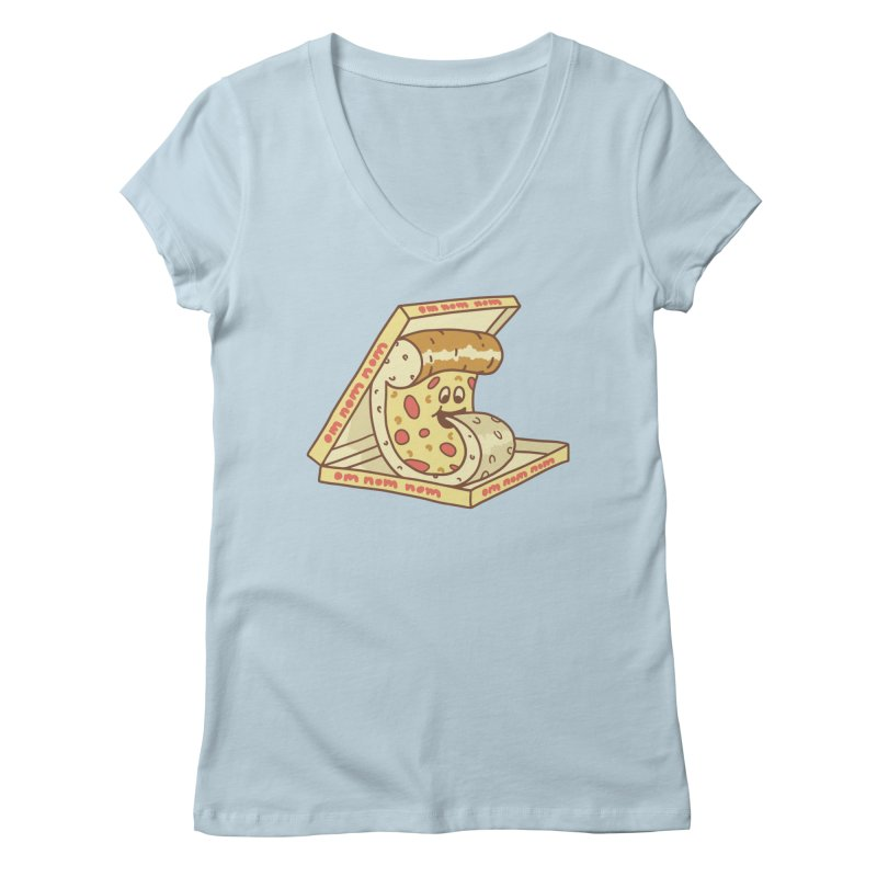 om nom nom Women's Regular V-Neck by gotoup's Artist Shop