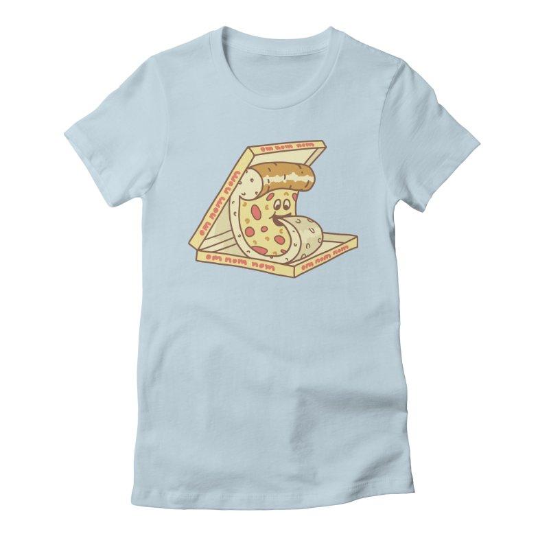 om nom nom Women's Fitted T-Shirt by gotoup's Artist Shop