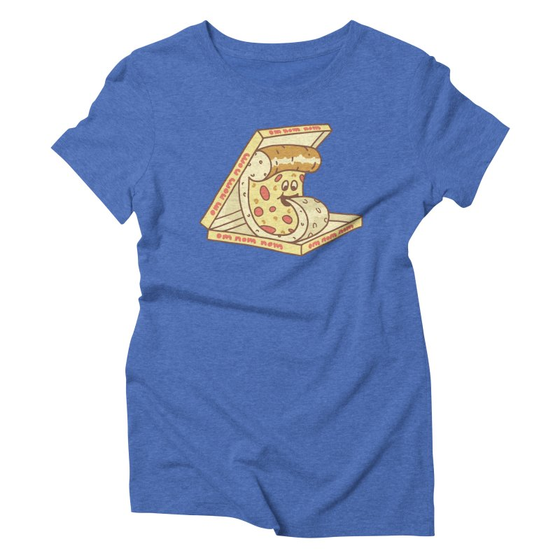 om nom nom Women's Triblend T-Shirt by gotoup's Artist Shop