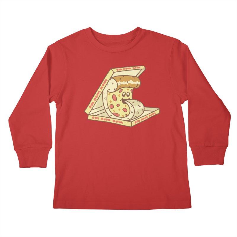 om nom nom Kids Longsleeve T-Shirt by gotoup's Artist Shop