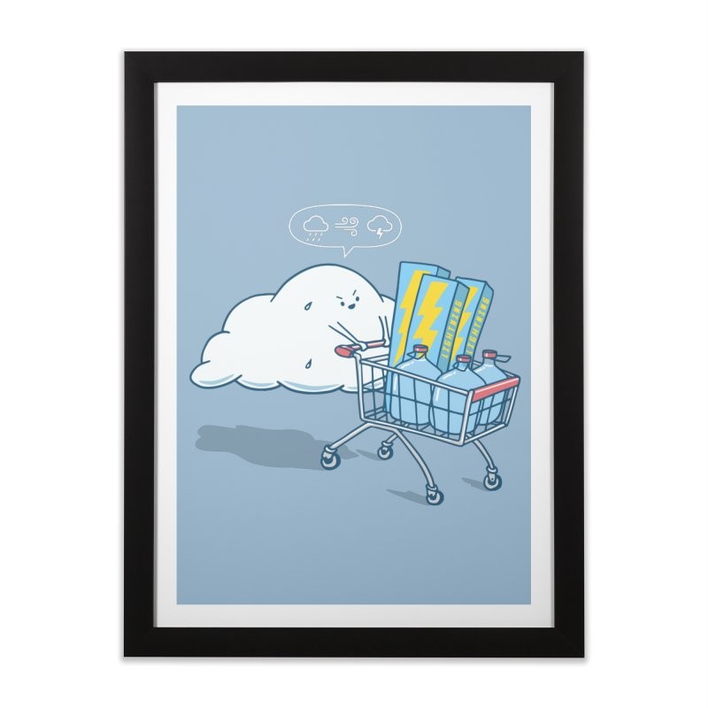 weather forecast Home Framed Fine Art Print by gotoup's Artist Shop