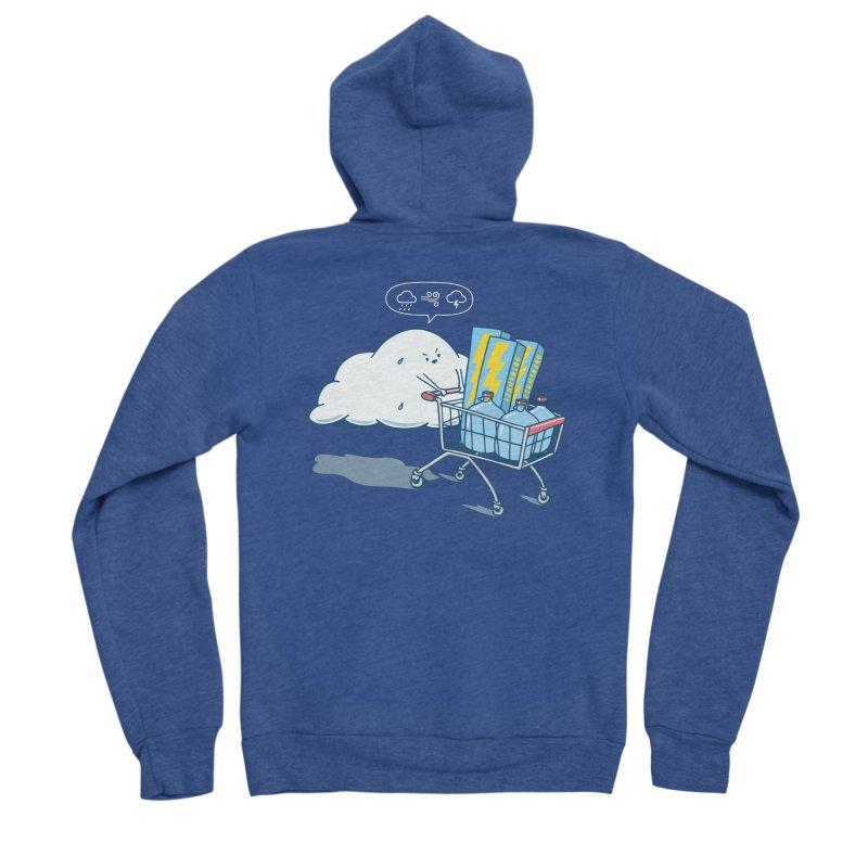 weather forecast Men's Sponge Fleece Zip-Up Hoody by gotoup's Artist Shop
