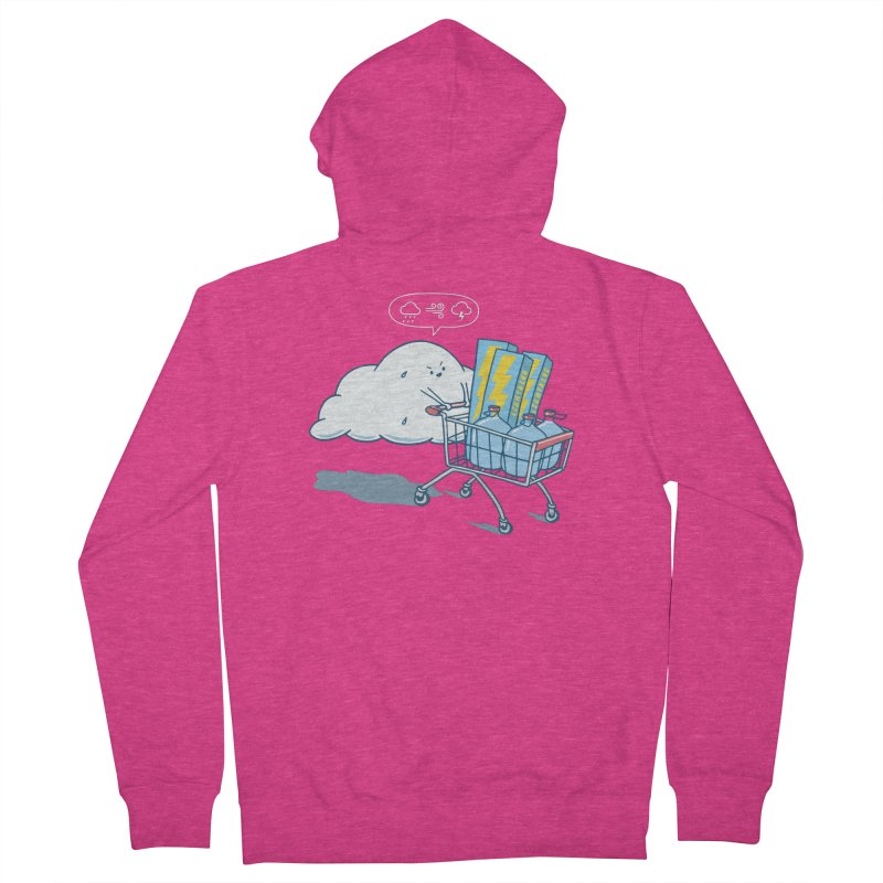 weather forecast Women's French Terry Zip-Up Hoody by gotoup's Artist Shop