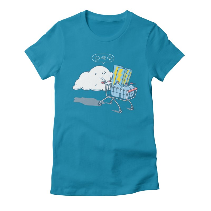weather forecast Women's Fitted T-Shirt by gotoup's Artist Shop