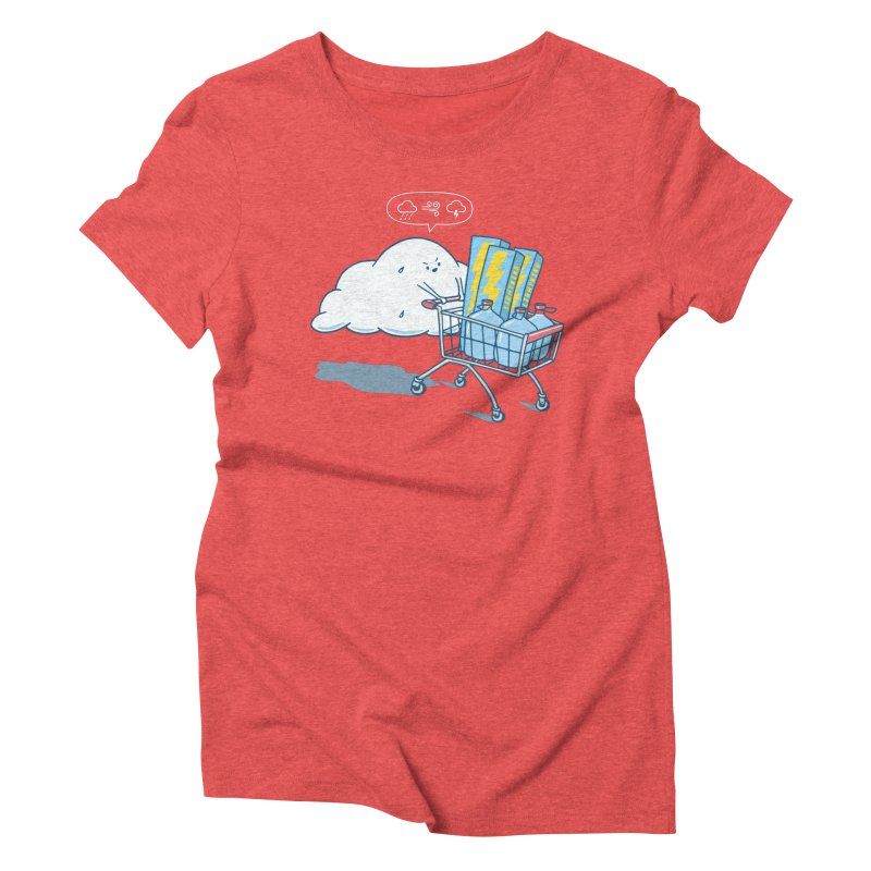 weather forecast Women's Triblend T-Shirt by gotoup's Artist Shop