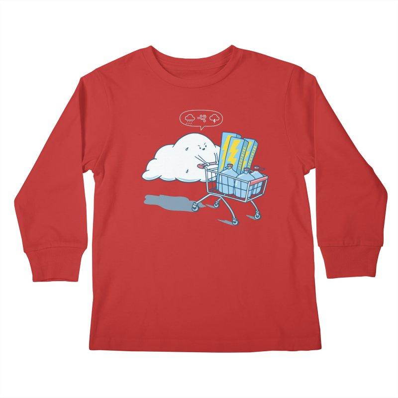 weather forecast Kids Longsleeve T-Shirt by gotoup's Artist Shop