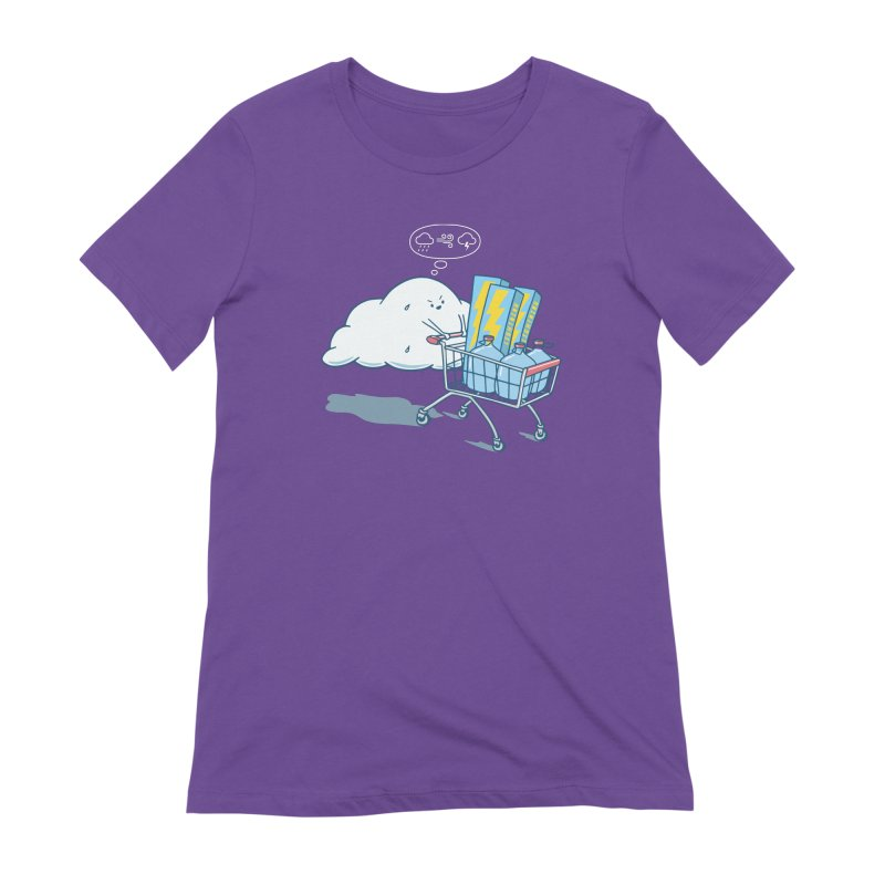 weather forecast Women's Extra Soft T-Shirt by gotoup's Artist Shop