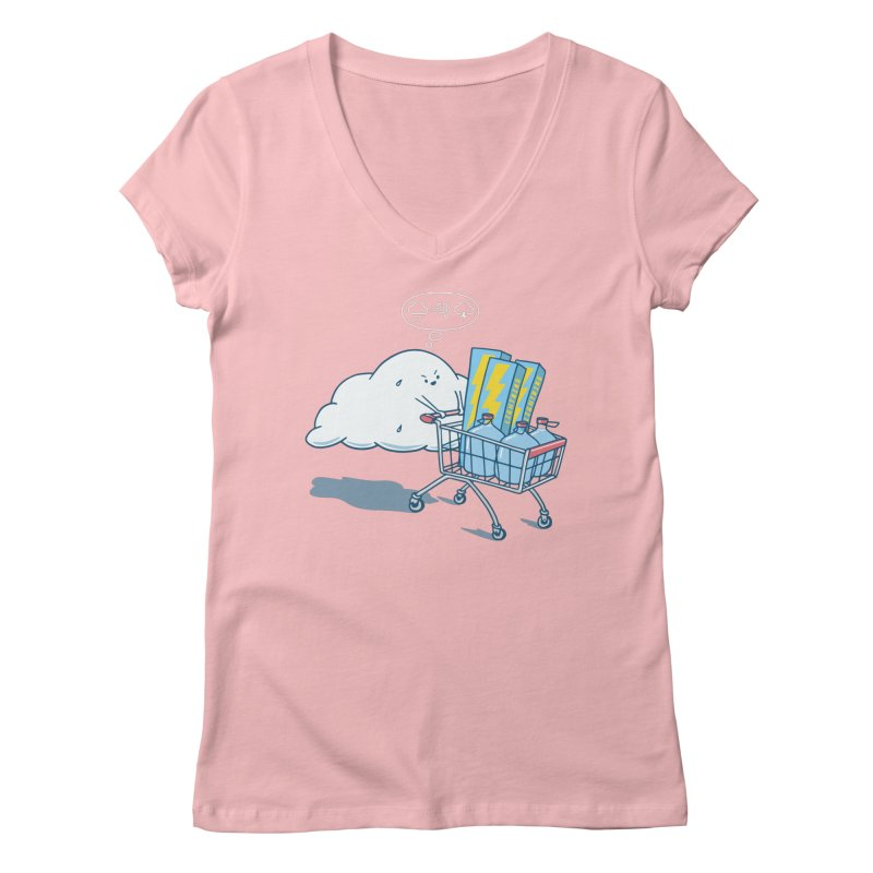 weather forecast Women's Regular V-Neck by gotoup's Artist Shop