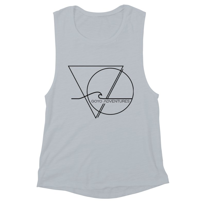 GLOW in Women's Muscle Tank Athletic Heather by GOYO ADVENTURES
