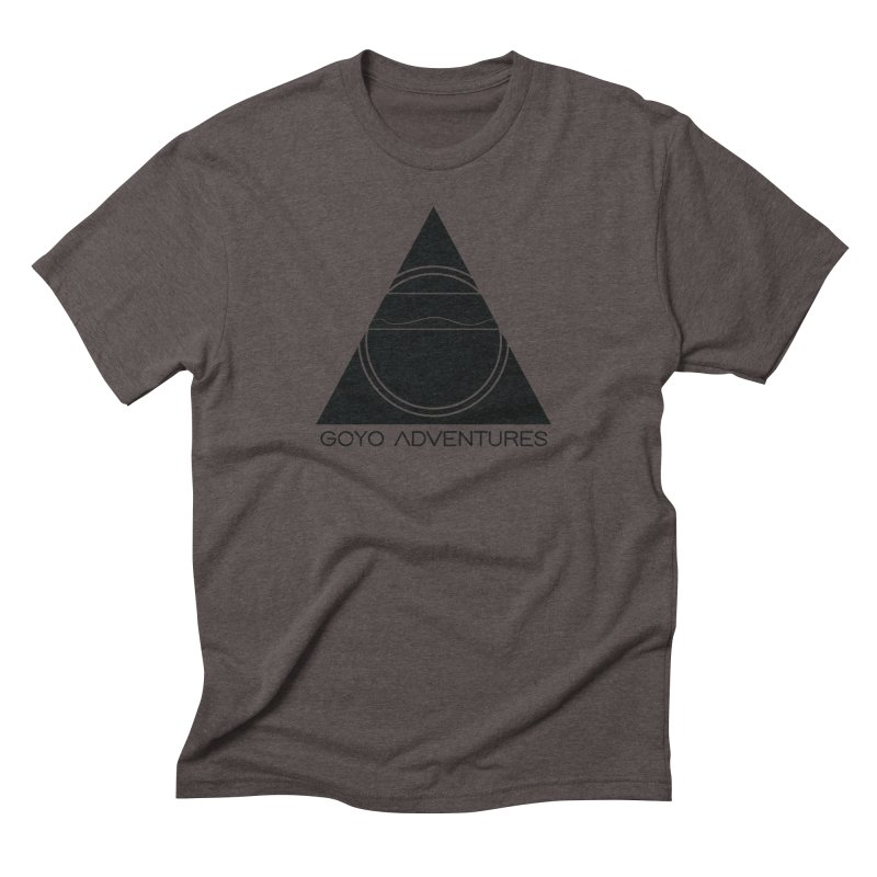 CONNECT in Men's Triblend T-Shirt Tri-Coffee by GOYO ADVENTURES