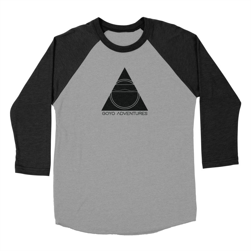 CONNECT in Men's Baseball Triblend Longsleeve T-Shirt Heather Onyx Sleeves by GOYO ADVENTURES