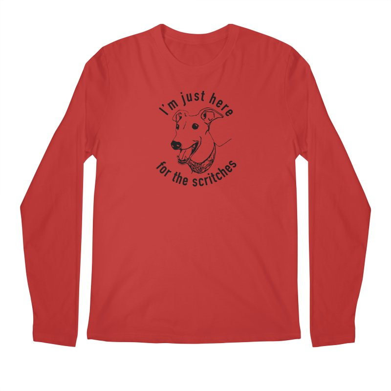 Just here for the scritches Men's Longsleeve T-Shirt by GPA-MN Merchandise Shop