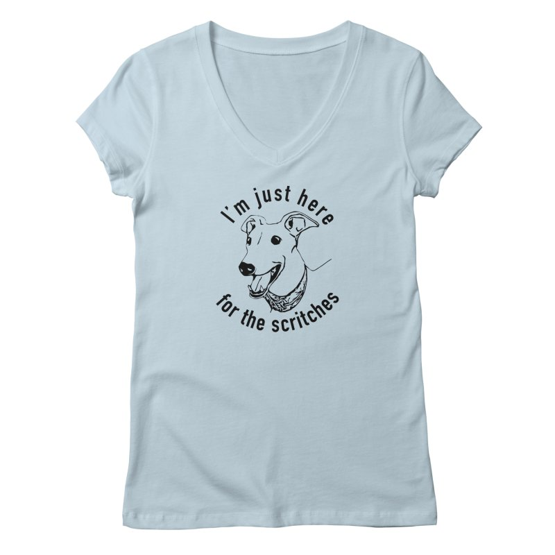 Just here for the scritches Women's V-Neck by GPA-MN Merchandise Shop