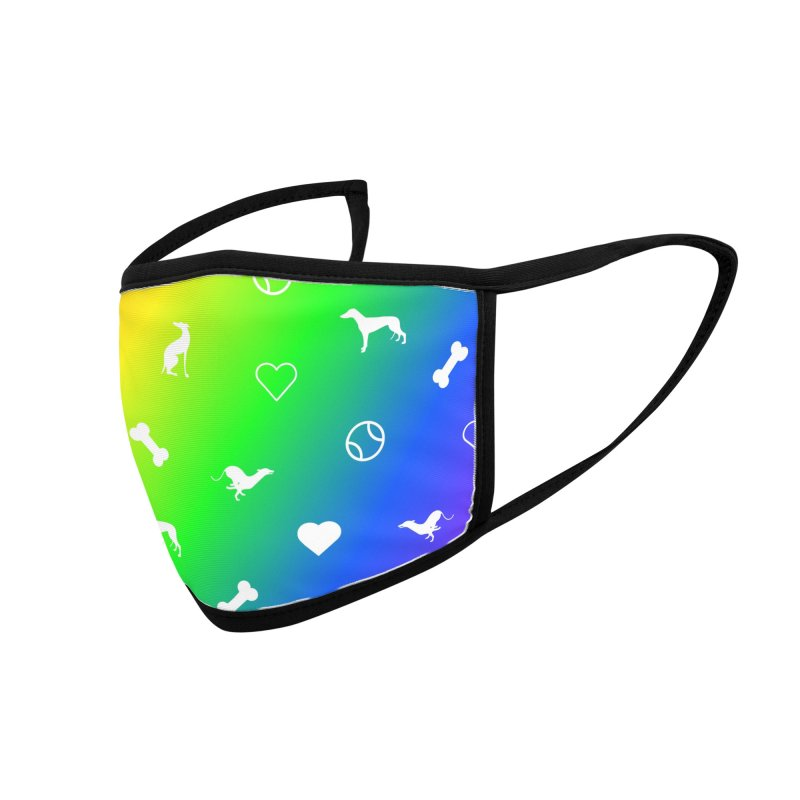 Rainbow Hounds Everywhere Mask Accessories Face Mask by GPA-MN Merchandise Shop