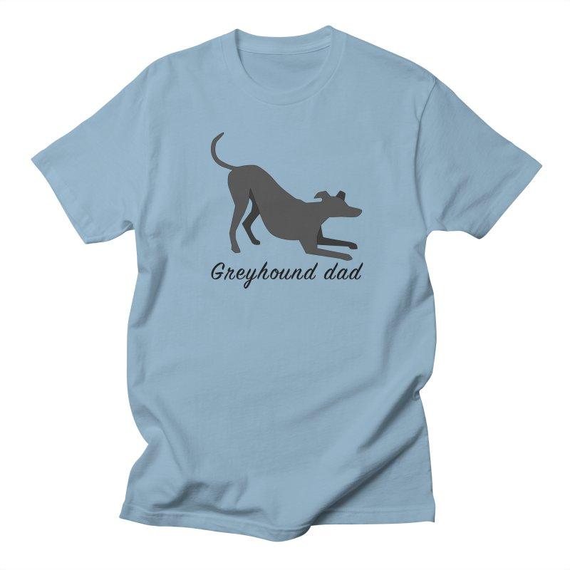 Greyhound Dad (black) Men's T-Shirt by GPA-MN Merchandise Shop