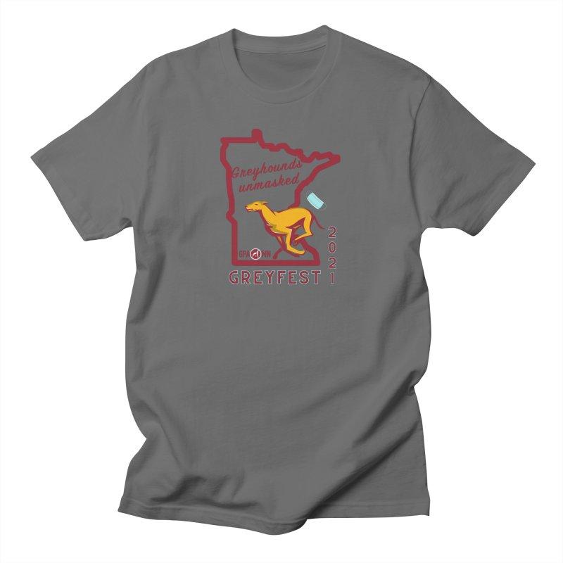 Greyfest 2021 - Greyhounds Unmasked Men's T-Shirt by GPA-MN Merchandise Shop