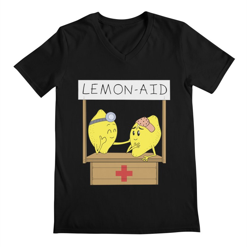 Lemon - Aid Men's V-Neck by gpedde's Artist Shop