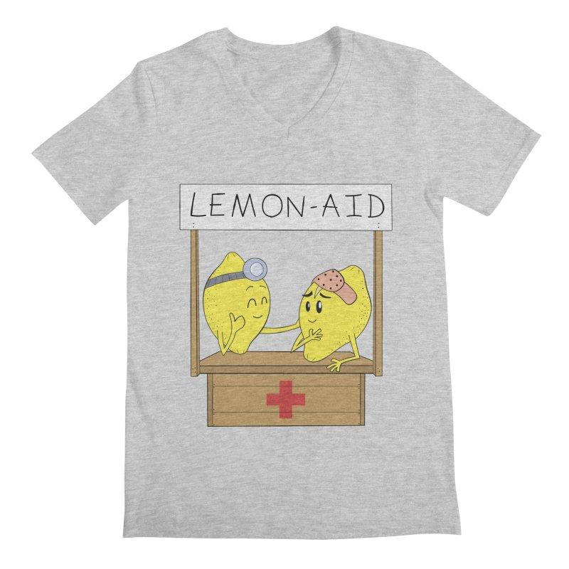 Lemon - Aid Men's Regular V-Neck by gpedde's Artist Shop