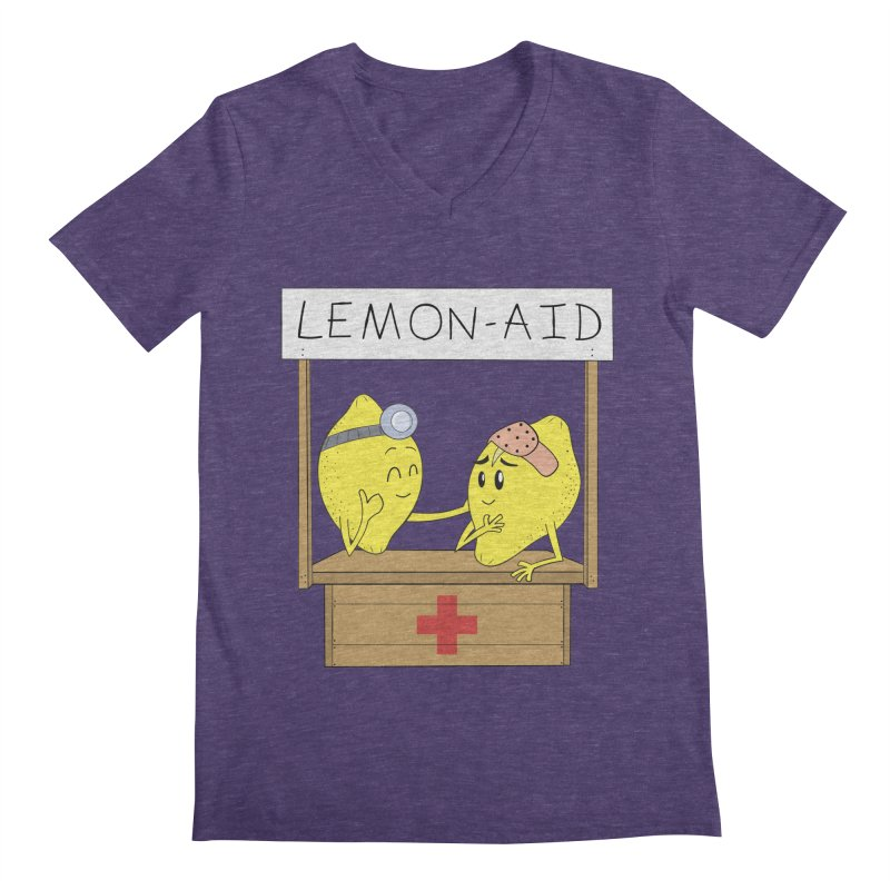 Lemon - Aid Men's V-Neck by gpedde's Artist Shop