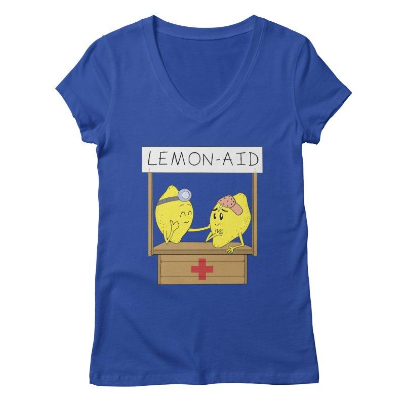 Lemon - Aid Women's Regular V-Neck by gpedde's Artist Shop