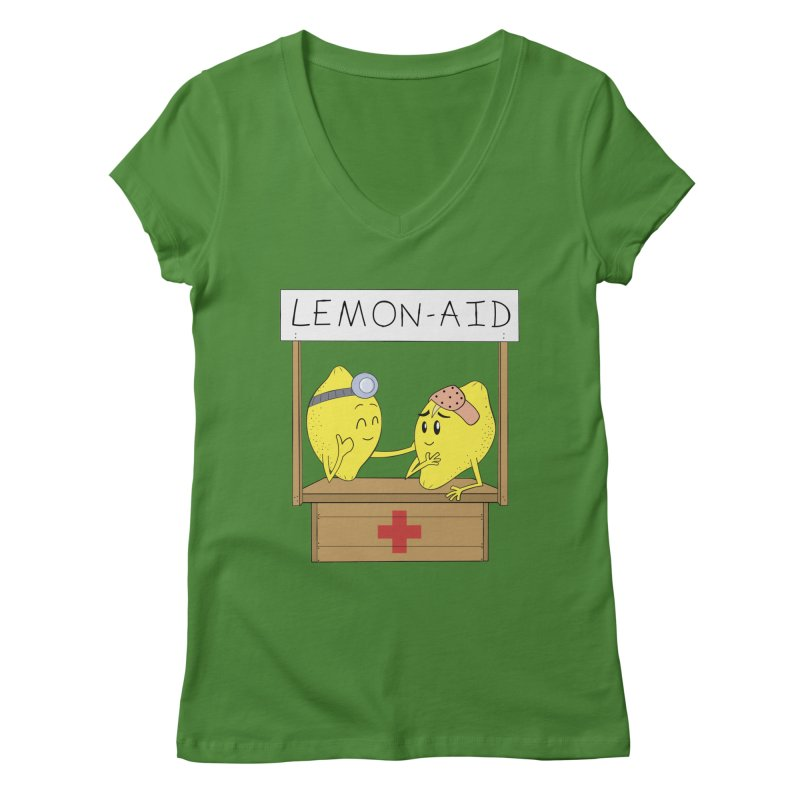 Lemon - Aid Women's V-Neck by gpedde's Artist Shop