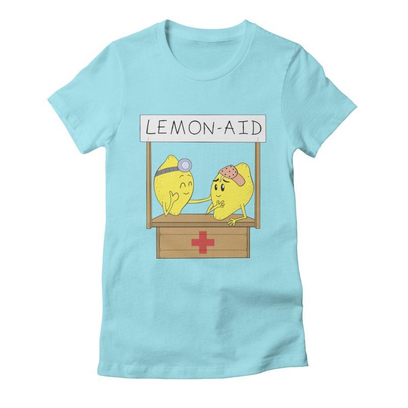 Lemon - Aid Women's Fitted T-Shirt by gpedde's Artist Shop