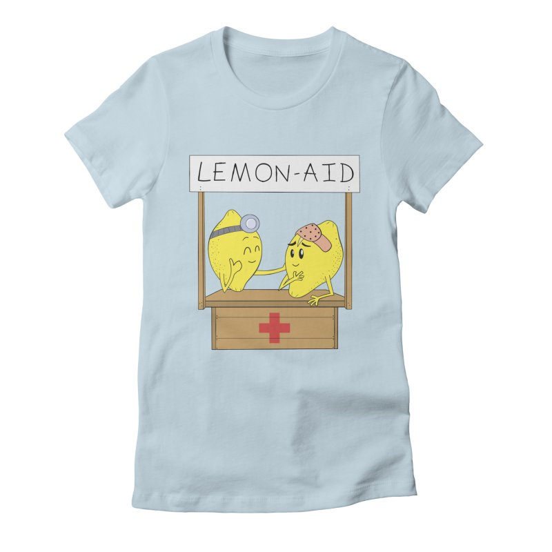Lemon - Aid Women's Fitted T-Shirt by gpedde's Artist Shop
