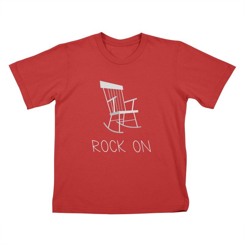 Rock On Kids T-Shirt by gpedde's Artist Shop
