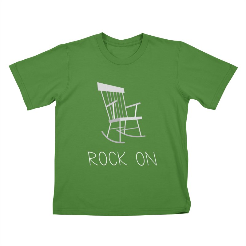 Rock On Kids T-Shirt by gpedde's Artist Shop