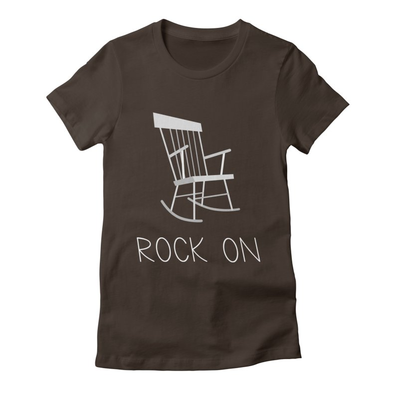 Rock On Women's Fitted T-Shirt by gpedde's Artist Shop