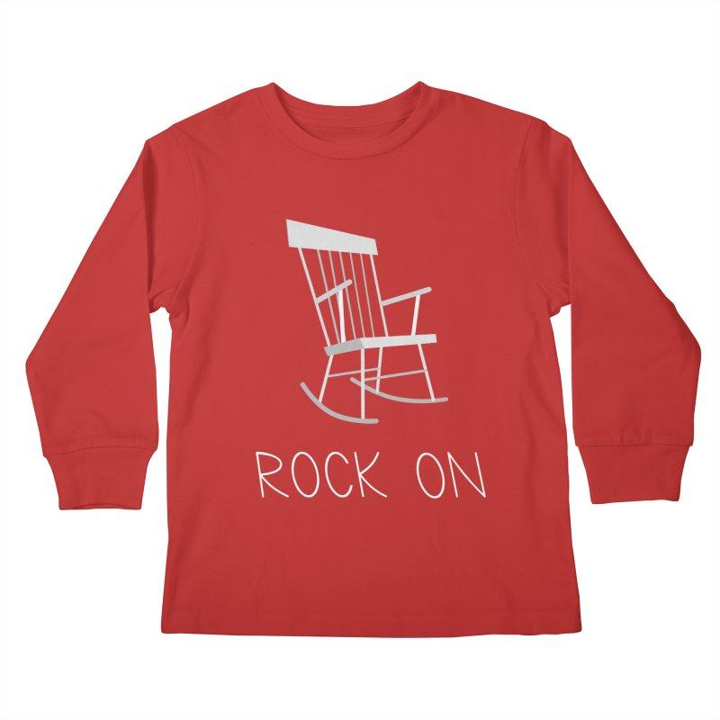 Rock On Kids Longsleeve T-Shirt by gpedde's Artist Shop