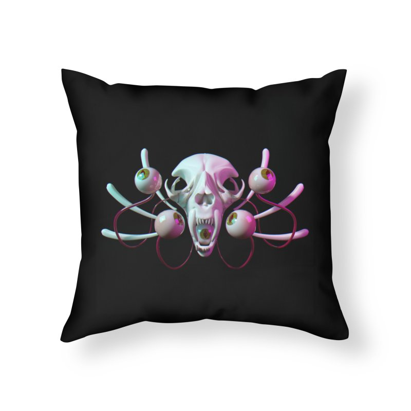Bones X Home Throw Pillow by CoolStore