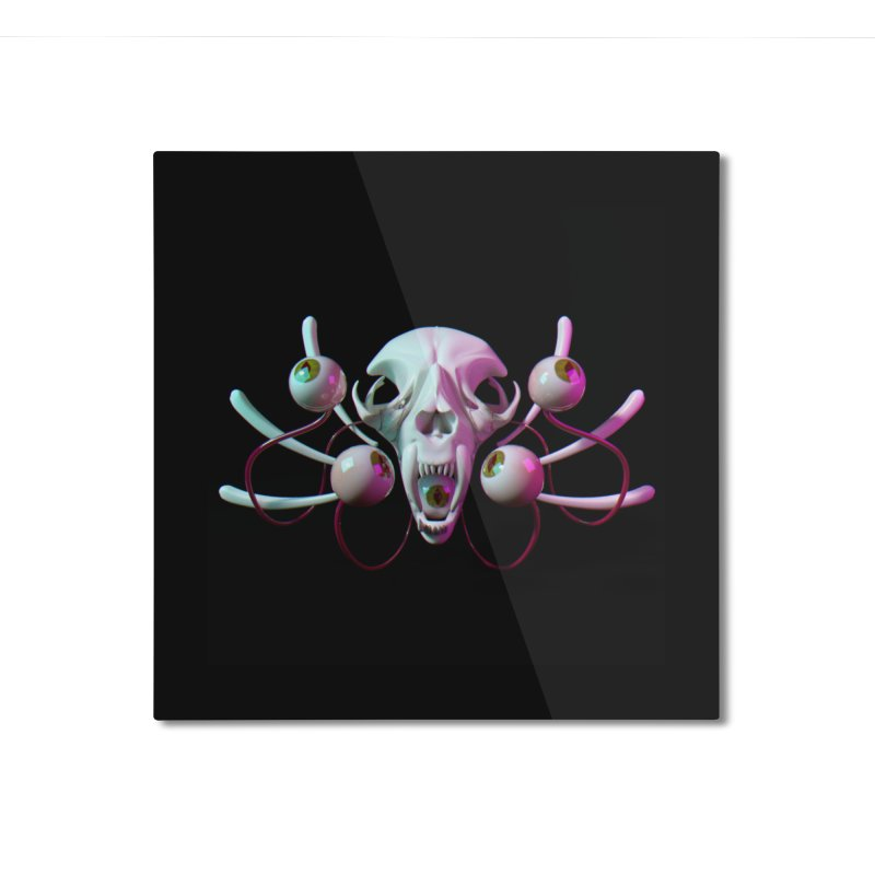 Bones X Home Mounted Aluminum Print by CoolStore