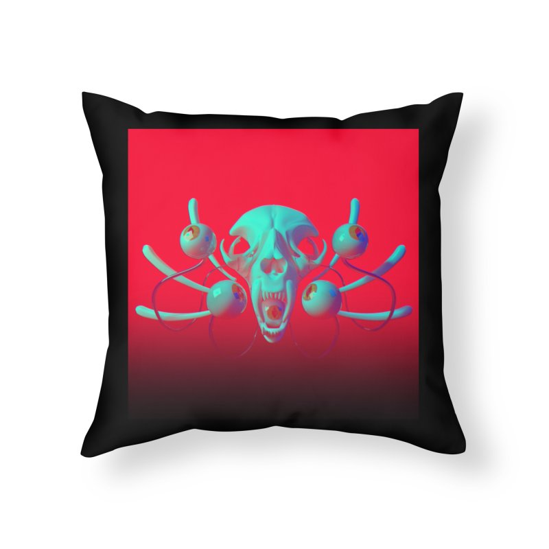 Bones Y Home Throw Pillow by CoolStore