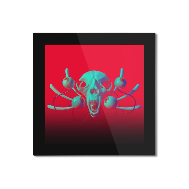Bones Y Home Mounted Aluminum Print by CoolStore