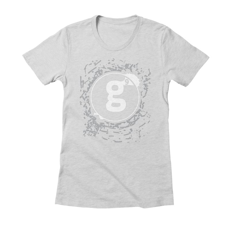 Gradient9 Shatter Women's Fitted T-Shirt by Gradient9 Studios Threadless Store