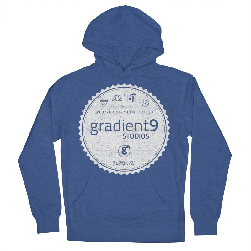 Gradient9 Badge in Men's French Terry Pullover Hoody Heather Royal by Gradient9 Studios Threadless Store