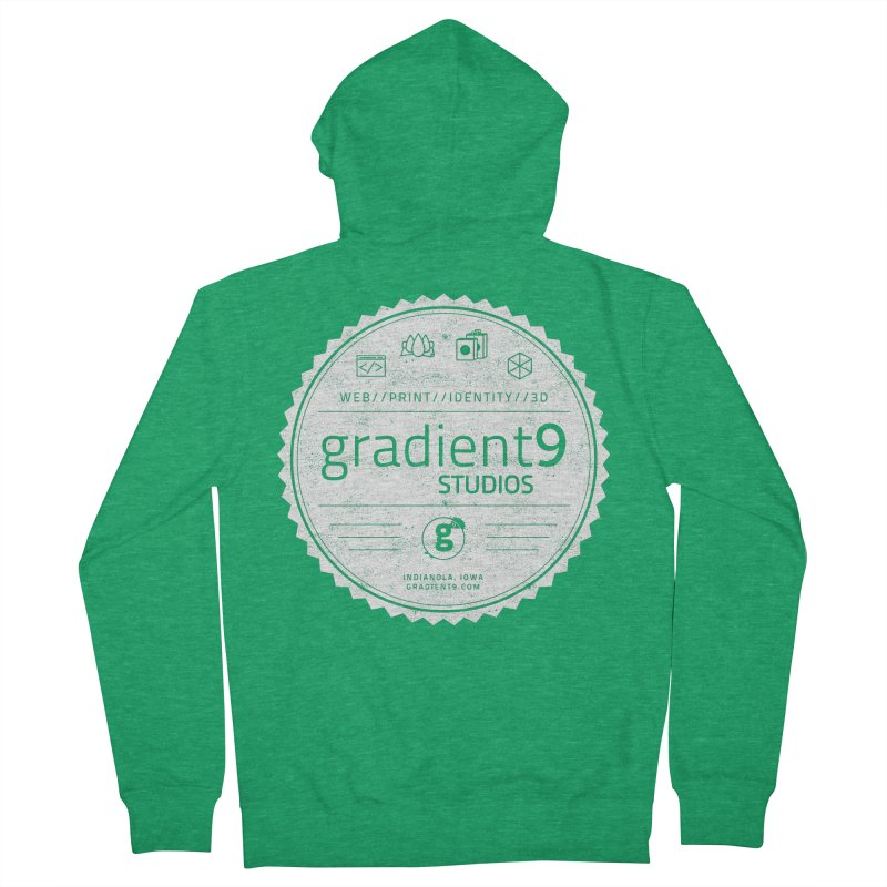 Gradient9 Badge Women's French Terry Zip-Up Hoody by Gradient9 Studios Threadless Store