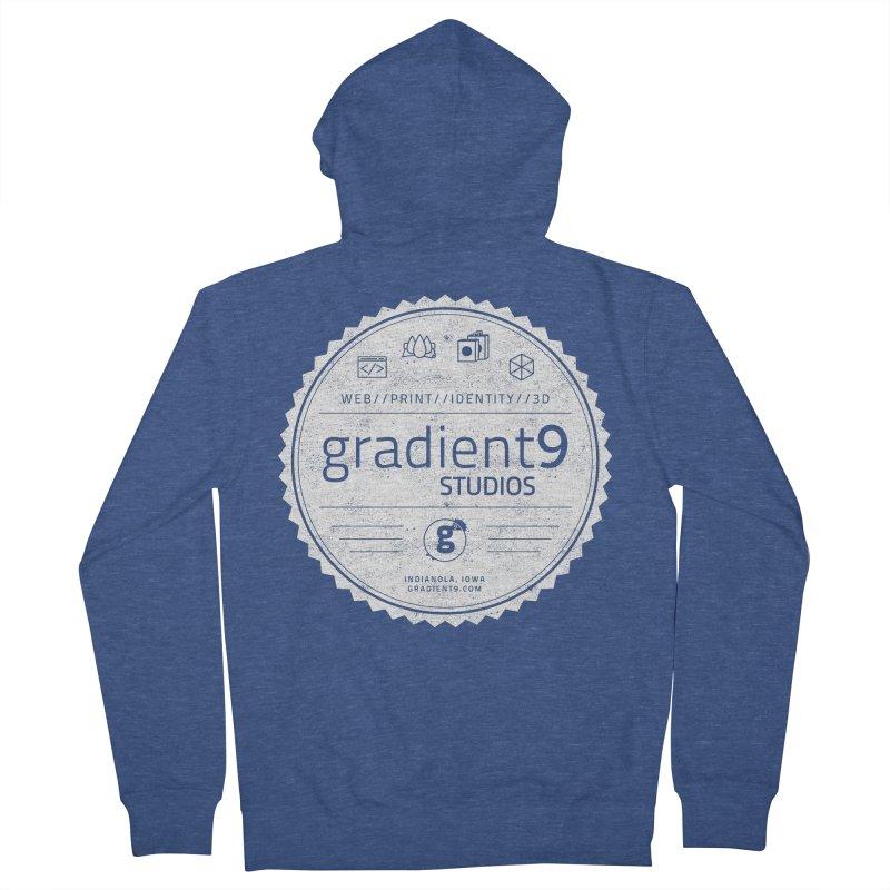 Gradient9 Badge Women's French Terry Zip-Up Hoody by Gradient9 Studios Threadless Store