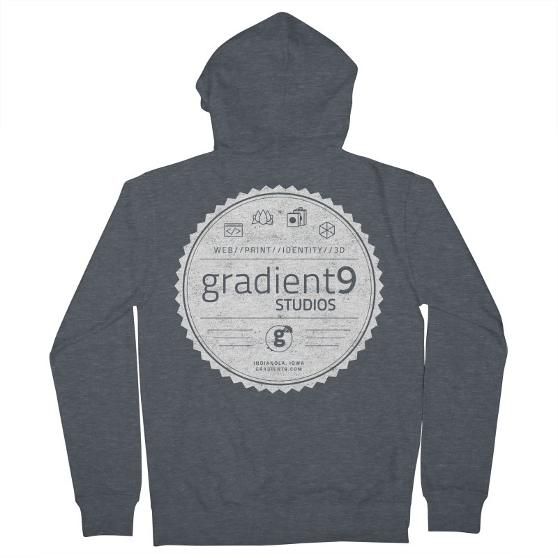 Gradient9 Badge Men's French Terry Zip-Up Hoody by Gradient9 Studios Threadless Store