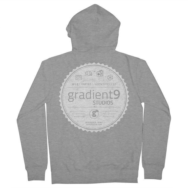 Gradient9 Badge Men's French Terry Zip-Up Hoody by Gradient9 Studios Threadless Store