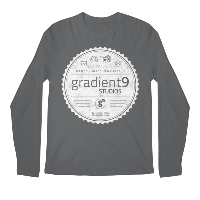 Gradient9 Badge Men's Regular Longsleeve T-Shirt by Gradient9 Studios Threadless Store