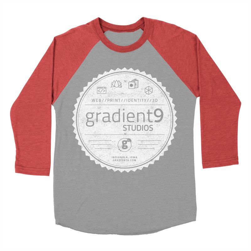 Gradient9 Badge Women's Baseball Triblend Longsleeve T-Shirt by Gradient9 Studios Threadless Store