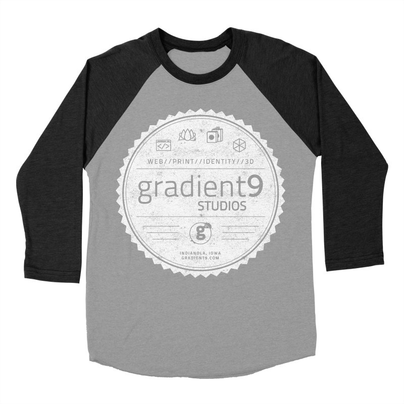 Gradient9 Badge Men's Baseball Triblend Longsleeve T-Shirt by Gradient9 Studios Threadless Store