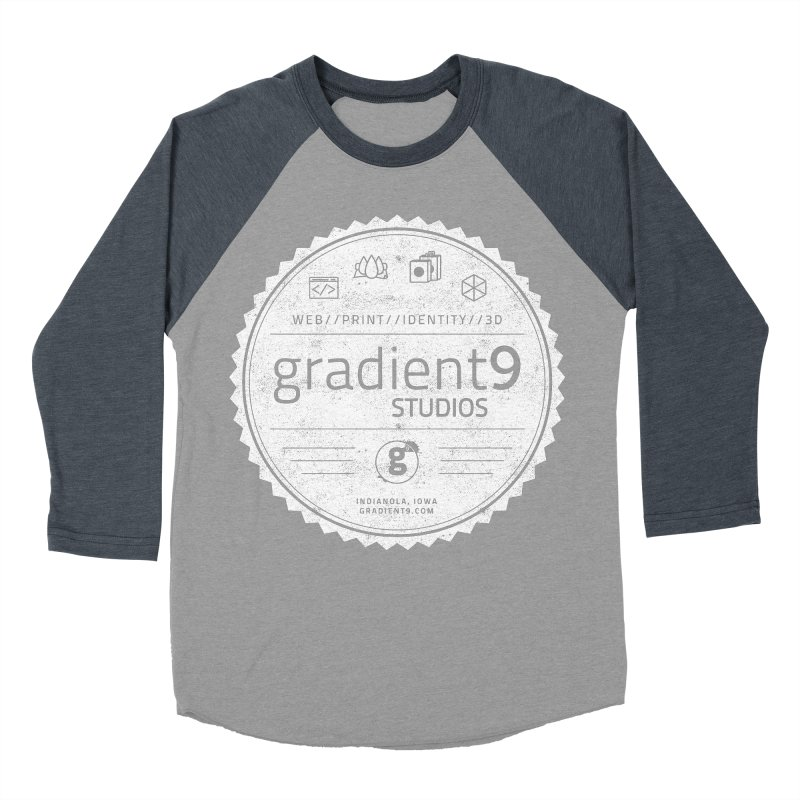 Gradient9 Badge Men's Baseball Triblend Longsleeve T-Shirt by Gradient9 Studios Threadless Store