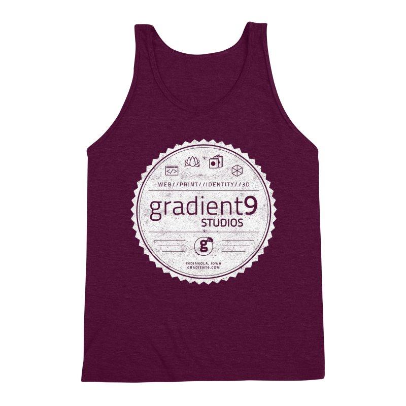 Gradient9 Badge Men's Triblend Tank by Gradient9 Studios Threadless Store