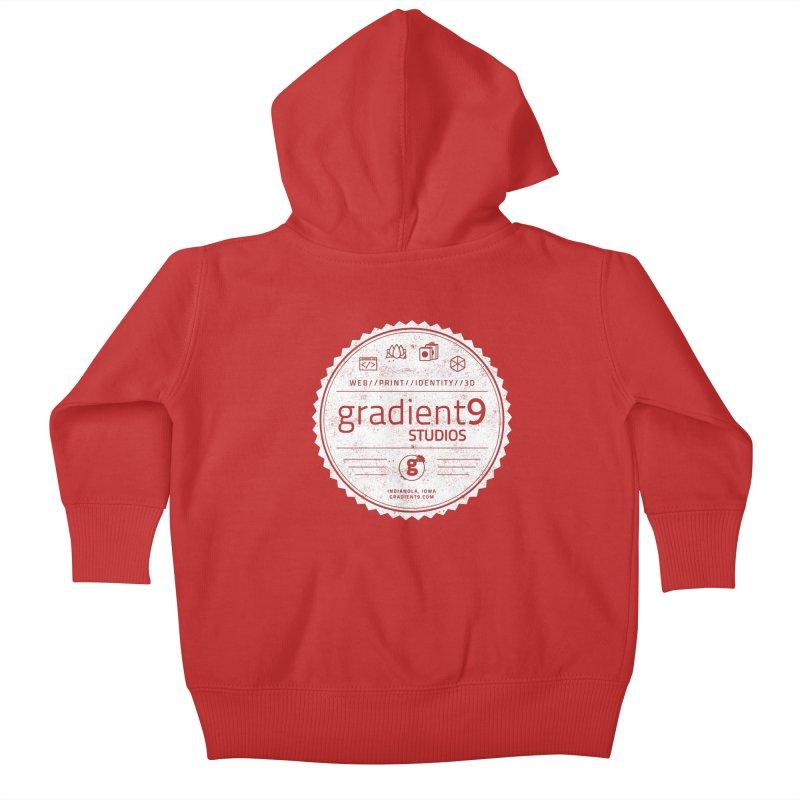 Gradient9 Badge Kids Baby Zip-Up Hoody by Gradient9 Studios Threadless Store