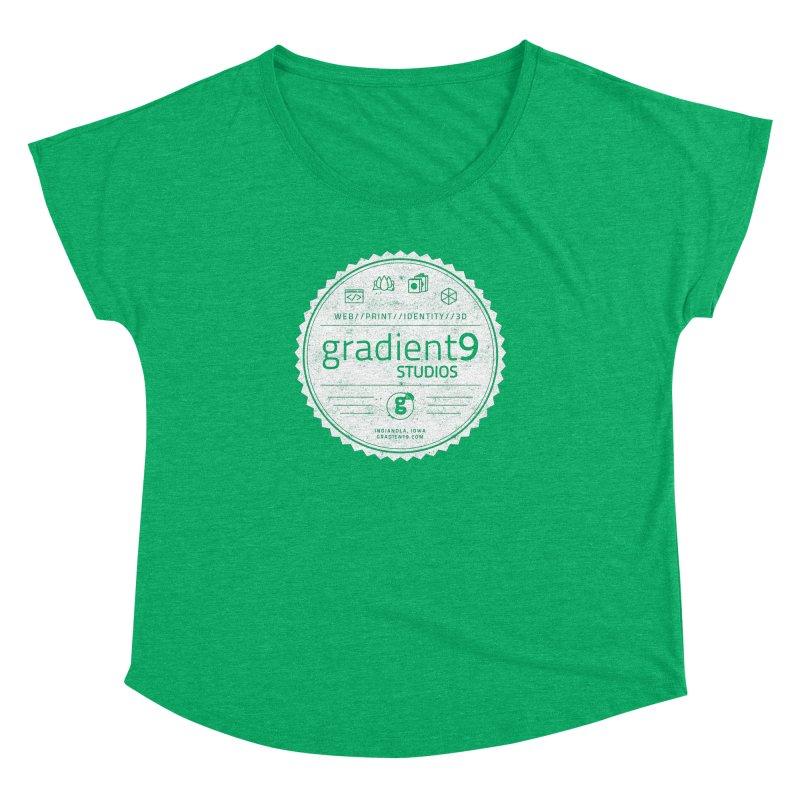 Gradient9 Badge Women's Dolman Scoop Neck by Gradient9 Studios Threadless Store