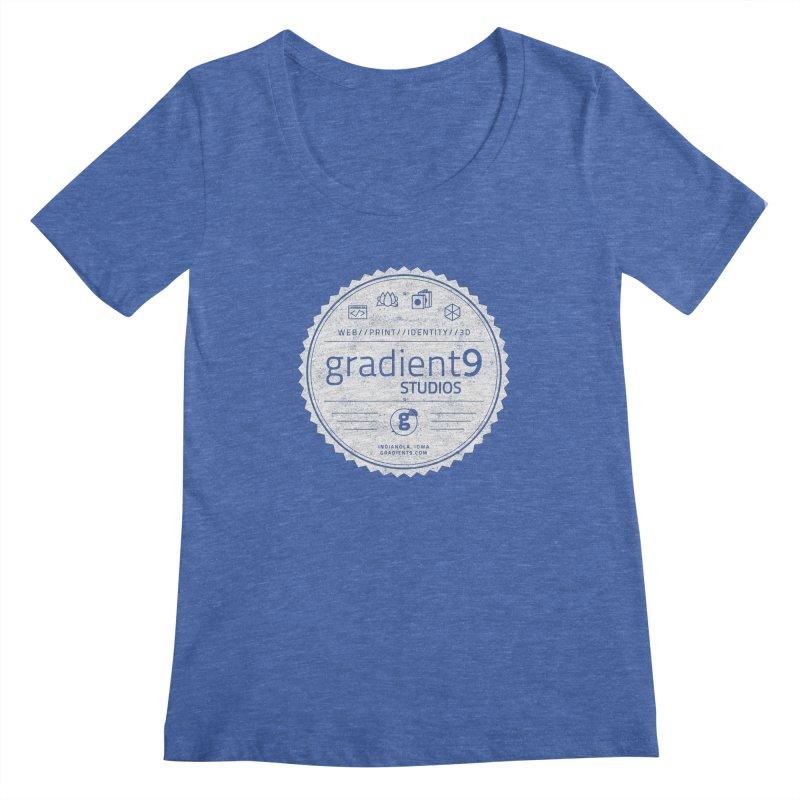Gradient9 Badge Women's Regular Scoop Neck by Gradient9 Studios Threadless Store